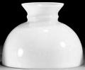 "Satin White Hurricane Glass Lamp Shade 10"" Fitter"
