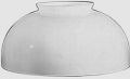 "Flat Top White Hurricane Glass Lamp Shade 14""W Fitter"