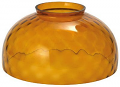 "Amber Thumbprint Hurricane Glass 14""W Fitter"