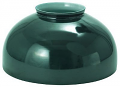 "Green Hurricane Glass Lamp Shade 14""W Fitter"