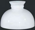 "Dome Style White Hurricane Glass Lamp Shade 12"" Fitter"