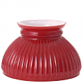 "Red Hurricane Glass Lamp Shade 6"" Fitter"