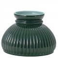 """6"""" Fitter Green Hurricane Glass Lamp Shade D62241"""
