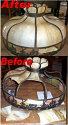 "24"" Windmills Slag Lamp Shade Repair"
