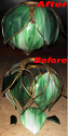 Green Tulip Style Slag Lamp Shade Repair