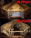 Vintage Circa 1900 Slag Lampshade Repair