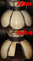 Crown Design Slag Lamp Shade Glass Replacement