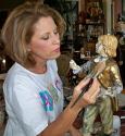 Janie Hoyle Repairs Marbro Boy Statue Lamp