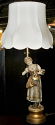 Marbro Girl Statue Lamp with New Victorian Shade Restored