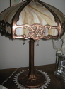 We Made This Base And Custom Finished It In Antique Copper To Match Customer's Antique Slag Lamp