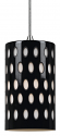 "Black Glass White Coin Dots Pendant Light 4.7""Wx7.9""H"