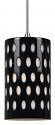 """Black & White Coin Dot Glass Bar Light 4.7""""Wx7.9""""H"""