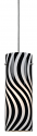 "Black & White Wavy Glass Bar Light 3.9""Wx11""H"