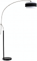 "Brushed Steel Long Arm Floor Lamp Adjustable 72-95""H"