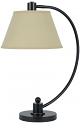 "Bronze Curved Arm Reading Table Lamp Beige Linen Shade 23""H"