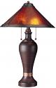 """Bronze Lamp Dirk Van Erp Mica Shade 26""""H - Sale !"""