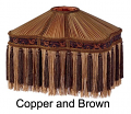 """Copper Victorian UNO Lamp Shade 13""""W"""
