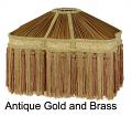 "Gold Victorian UNO Lamp Shade 13""W"