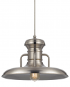 "Brushed Steel Warehouse Pendant Light 16""W"
