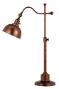 "Rust Adjustable Arm Desk Lamp 28""H"