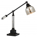 "Bronze Metal With Antique Glass Adjustable Arm Desk Lamp 25""H"