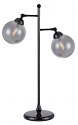 "Gun Metal Table Lamp Clear Glass Shades 28""H"