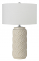 "Milky White Ceramic Lamp Drum Lampshade 27""H - Sale !"
