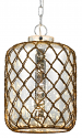 "Rope Net Seeded Glass Drum Pendant Light 15.5""W"