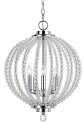 "Crystal Style Sphere & Chrome Pendant 5 Lights 15""Wx19""H"