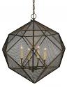 "Geometric Wire Mesh Pendant Light 20""Wx23""H"