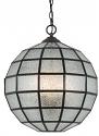 "Geometric Seeded Glass Chandelier 16""Wx16""H"