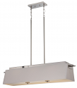"Claire Nickel White LED Island Light 40""W"