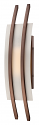 "Arc Bronze over Frost Glass LED Wall Sconce Light 7""Wx20""H"