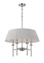 "Benson Nickel Pendant Light Pleated Shade 4 Lights 24""Wx57""H"
