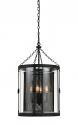 "Blacksmith Iron Glass Wire Mesh Chandelier 16""Wx28""H"
