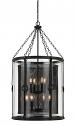 "Blacksmith Iron & Glass Wire Mesh Chandelier 22""Wx42""H"