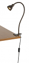 "LED Rust Clip On Desk Lamp 31""H"