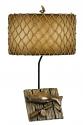 """Trophy Fish Lamp Parchment Net Drum Shade 30""""H"""