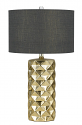 "Golden Silver Ceramic Table Lamp 28""H"
