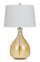 "Honey Color Glass Table Lamp 28""H"