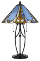 "Scallop Tapered Art Glass Tiffany Table Lamp 24""H"