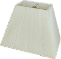 "Tapered Rectangle String Lamp Shade Off White 14-16""W"