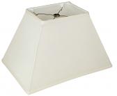 "Tapered Rectangle Silk Lamp Shade Cream, White, Black 12-18""W"