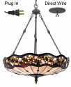 "Jeweled Tiffany Chandelier Pendant Light 22""Wx25""H - Sale !"