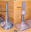 Raw Cast Metal Tiffany Lamp BASES ONLY