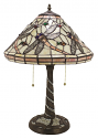 "Cream & Rose Dragonfly Tiffany Lamp 22""H - Sale !"