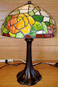 "Tiffany Lamp Flowers & Butterfly 17""H - Sale !"