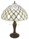"White & Crystal Tiffany Lamp 23""H - Sale !"
