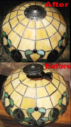 Tiffany Lamp Shade Vented Heat Cap Repair