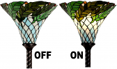 Tiffany Torchiere Floor LAMP or SHADE ONLY